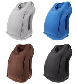 Portable Travel Pillow Body Neck Back Support Inflatable Sof