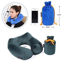 Markkeer Push-Button Inflatable Travel Pillow: Smart Pillow