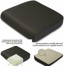 Seat Cushion Pillow Memory Foam Large Chair Pain Relief Back