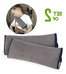 Set of 2 Seatbelt Cover Pillows | Head Support Pillow for Ca