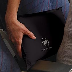 Self-Inflating Back Rest/Compressible Suitcase-Friendly Lumb