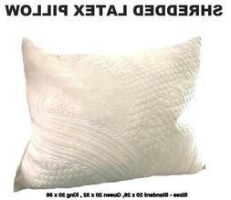 Shredded Latex Pillow with Organic Cotton Cover-Queen, King,