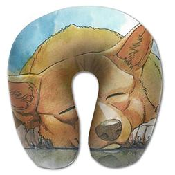 Sleeping Dog U-shaped Travel Pillow Full All Over Print Supe