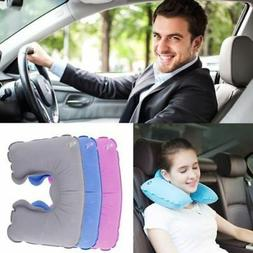 Soft Inflatable U Shaped Travel Neck Pillow Flight Car Head