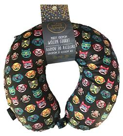 Bon Voyage Soft Memory Foam Travel Neck Pillow Cats and Dogs