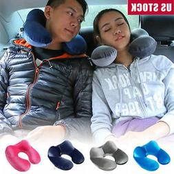 Air Inflatable Travel Neck Pillow Soft U Shape Health Pillow