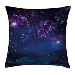 Ambesonne Space Throw Pillow Cushion Cover, Milky Way Themed