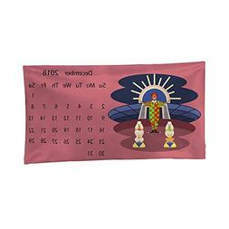 Nicely Tapestries Calendar 2018 for December Wall Tapestries