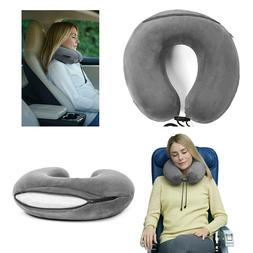 Travelrest Therapeutic Memory Foam Travel Neck Pillow Washab