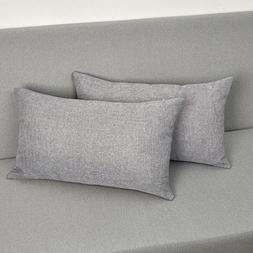 MRNIU 2PCS Throw Cushion Covers Pillowcases Fine Faux Linen