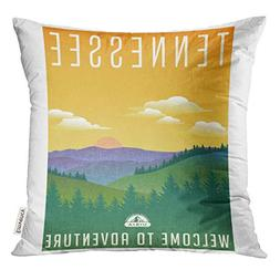 TOMKEYS Throw Pillow Cover Tennessee United States Travel Lu