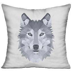 XHMHouse Throw Pillows Wolf Graphic - Include Pillow Cover A