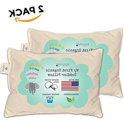 Toddler Pillow - ORGANIC Cotton MADE IN USA - Hypoallergenic
