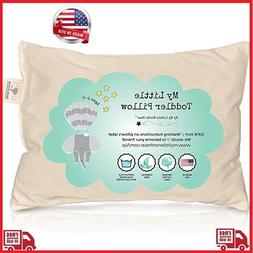 Toddler Pillow- ORGANIC Cotton MADE IN USA - Washable Unisex