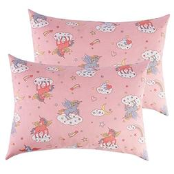 IBraFashion Toddler Pillowcases Pink for Girls 14x19 For 13x