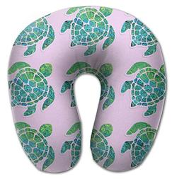 Tortoise Sea Turtle Unscented Neck Pillow Massager Memory Fo