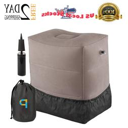 Travel Foot Rest Pillow with Push Button | Inflatable Bed fo