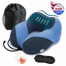 Travel Neck Pillow for Airplane Upgraded Ice Silk Nap Pillow