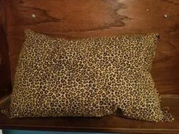 "Travel Pillow 17""x11 New Made in USA Leopard Print adult or"