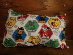 """Travel Pillow 17""""x11 New Made in USA Paw Patrol child can be"""