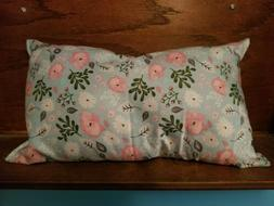 "Travel Pillow 17""x11 New Made in USA Spring Flowers adult or"