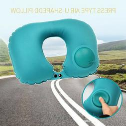 Travel Pillow Foldable Inflatable U-shaped Neck Support Car