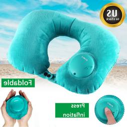travel pillow foldable inflatable u shaped neck