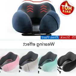 Travel Pillow Memory Foam U shaped Neck Support Head Rest Ai