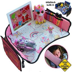 Kids Travel Tray for Girls -Toddler Car Seat Travel Play Tra