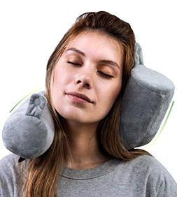 Goose Twist Memory Foam Travel Pillow - Roll Support for Nec