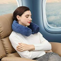 Twist Memory Foam Travel Pillow for Neck, Chin, Lumbar and L