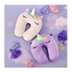 Two's Company Magi-Cool Unicorn Plush Travel Pillow, Assorte