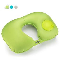 Basus U-Shape Travel Neck Pillow Self-Inflating with Inflata