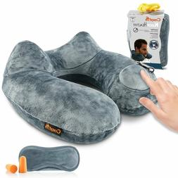 U Shaped Inflatable Neck Cervical Head Pillow Soft Compact T