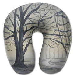 Lesi Yes U Shaped Neck Pillow Memory Foam Soft Winter Tree I