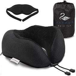 SunTal Ultimate Comfort Travel Pillow + Eye Mask – Prevent