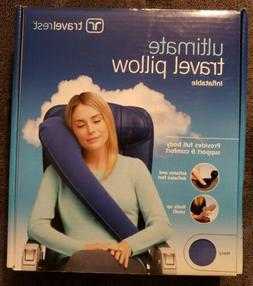ultimate inflatable travel pillow neck head shoulder