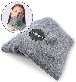 Lulutus Washable Travel Neck Support Pillow - Soft Nap Scraf