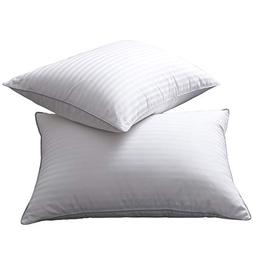 L LOVSOUL Set of 2 White Goose Down and Feather Bed Pillows